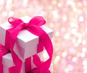 pink, present, and christmas image