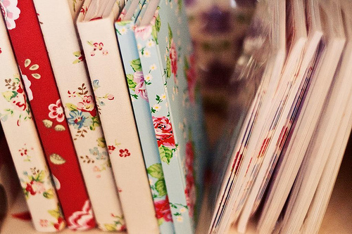 book, flowers, and floral image