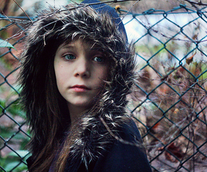 fence, girl, and winter image