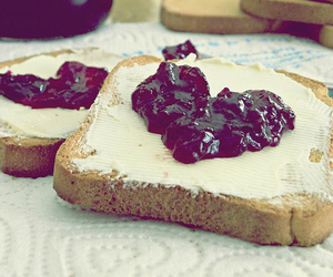 heart, food, and jam image