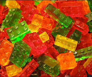 lego, gummy, and candy image