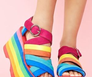 shoes and rainbow image