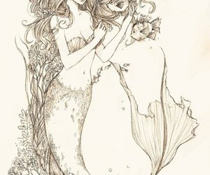 draw, drawing, and mermaid image