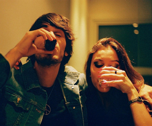 boy, drink, and girl image