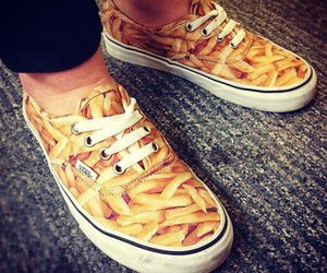 vans, shoes, and fries image