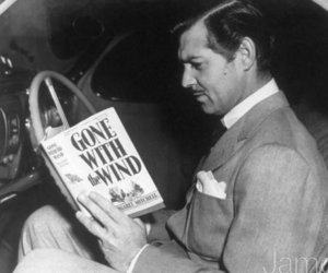 Gone with the Wind, clark gable, and book image
