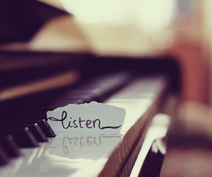 piano, listen, and music image