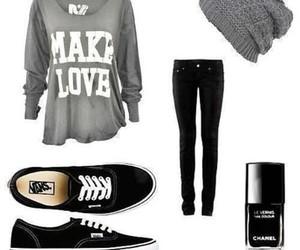 beanie, shirt, and sweater image