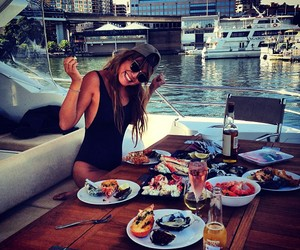 girl, food, and luxury image