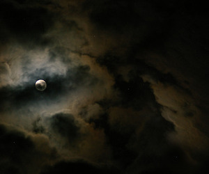 beautiful, clouds, and moon image