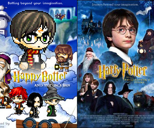 harry potter, maplestory, and wow lame image