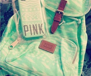 pink, green, and bag image