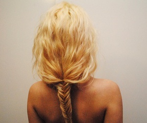 back, blonde, and girl image