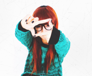 ulzzang, girl, and glasses image