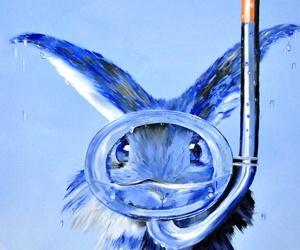 art, blue, and mask image