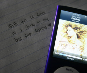 fearless, ipod, and Taylor Swift image
