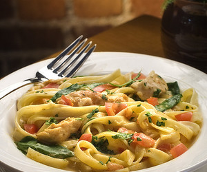 Chicken, pasta, and food image