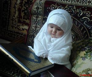 allah, little child, and hijab image