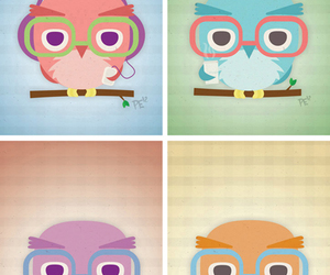 animals, draw, and owl image