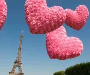 paris, pink, and hearts image