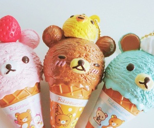cute, ice cream, and rilakkuma image