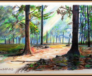 scenery and traditional art image