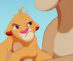 king, lion, and simba image