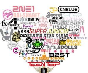 kpop, 2ne1, and super junior image