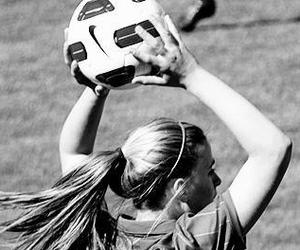 hair, women, and ball image