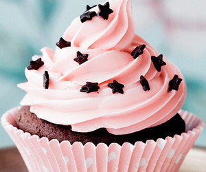 cupcake, pink, and stars image