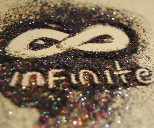 infinite, glitter, and infinity image