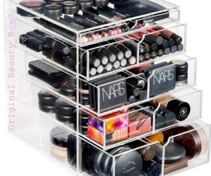 beauty, organization, and make up image