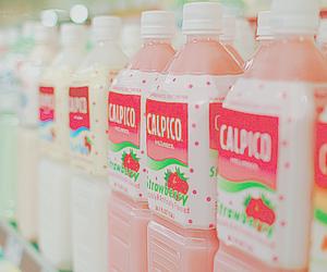 drink, kawaii, and pink image