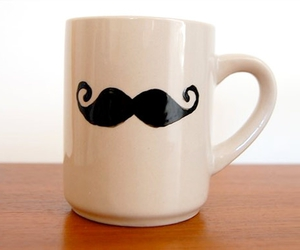 moustache and mug image
