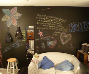 art, bedroom, and chalk image