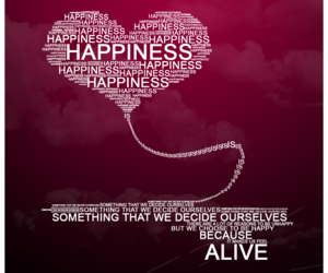 happiness, quote, and heart image