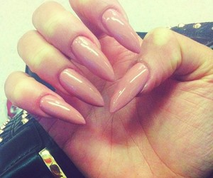 nails, girly, and Nude image