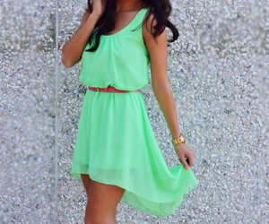 dress, green, and summer image