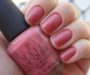 nails, nail polish, and pink image