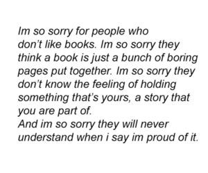 book, quote, and sorry image