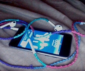 apple, colors, and earphones image