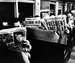 black and white, JFK, and president image