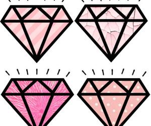 diamond, pink, and tumblr image