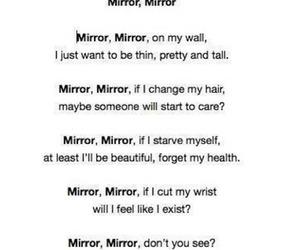 mirror, sad, and depression image