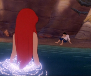 ariel, the little mermaid, and love image