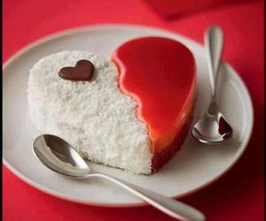 heart, cake, and food image