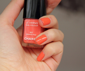 nails, chanel, and orange image