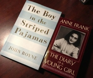 anne frank, striped pyjamas, and the diary of a young girl image