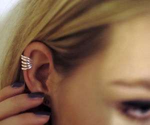 ear, earring, and jewelry image