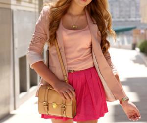 fashion, pink, and skirt image
